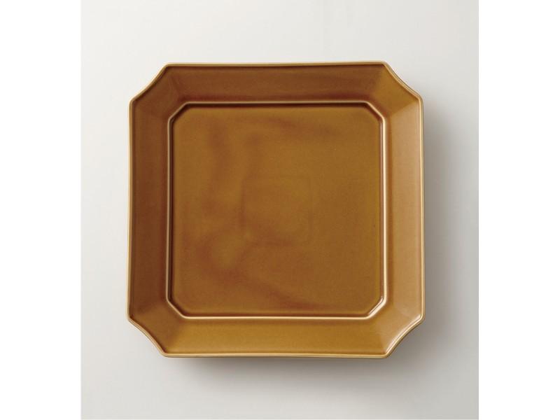 Square Dish 24cm Light-Brown | mizu mizu