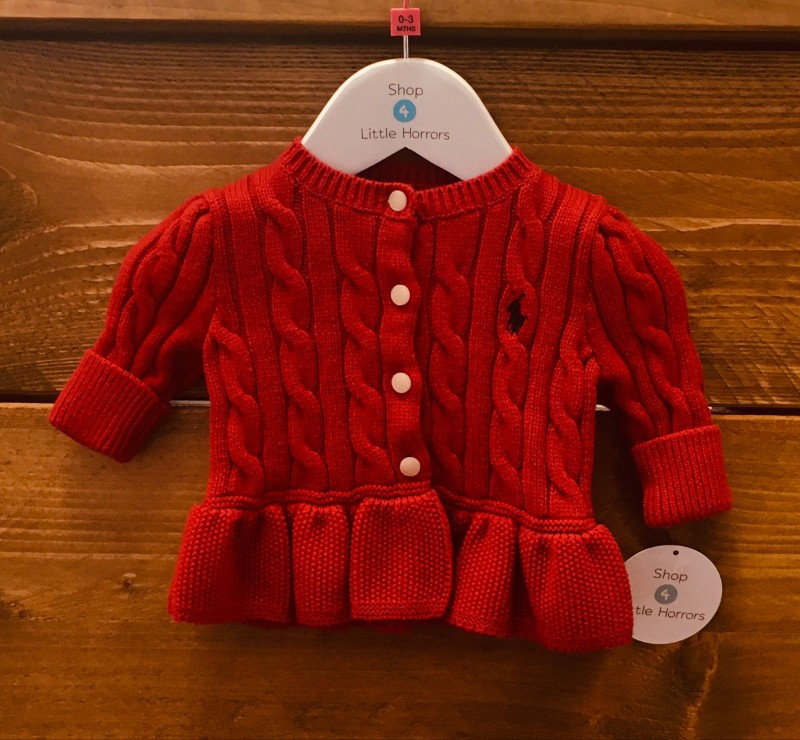RALPH LAUREN GIRLS CARDIGAN 3M