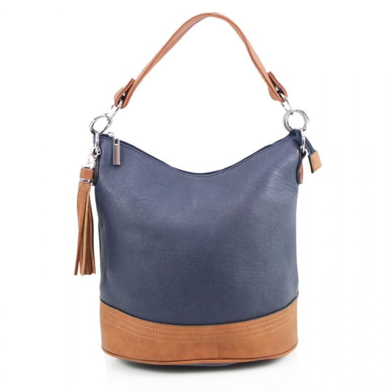 Tassel Bucket Bag - Navy