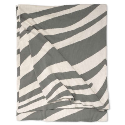 CLASSIC COLLECTION Zebra Pläd Titanium (TX)