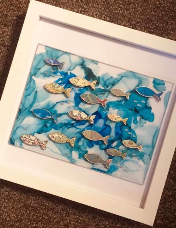 Fish sea scape frame