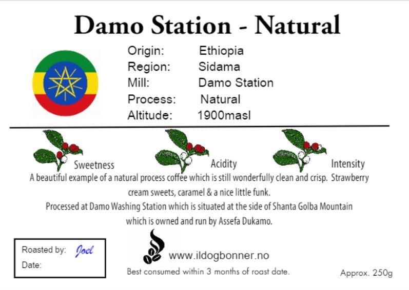 Damo Station Natural - Ethiopia - 250g