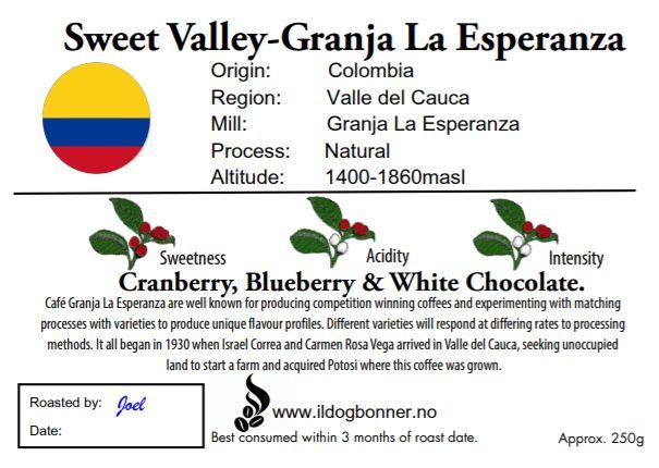 Sweet Valley - Granja La Esperanza - Colombia - 250g