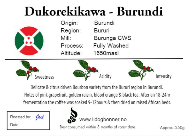Dukorekikawa - Burundi - 250g