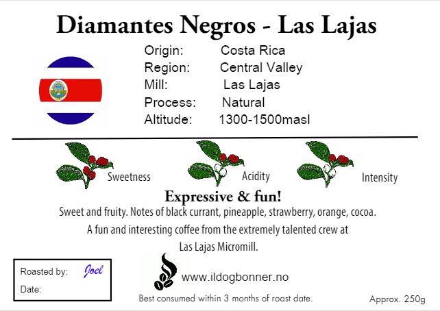 Las Lajas Diamantes Negros 250g