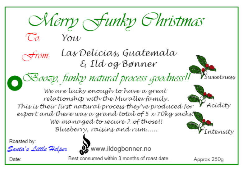Merry Funky Christmas- Las Delicias, Guatemala- Natural Process