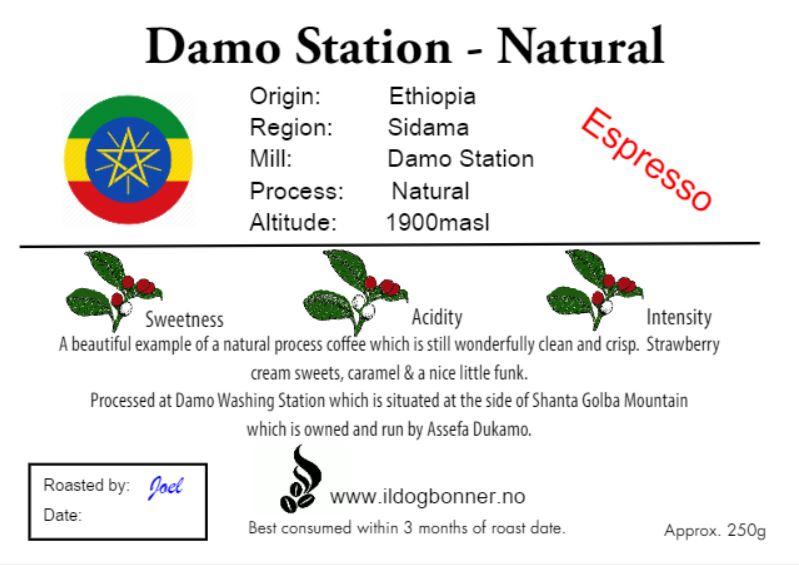 Damo Station - Natural -Espresso - Ethiopia 250g