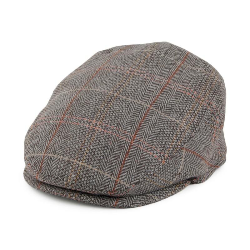 KIDS TWEED FLAT CAP BROWN-GREY