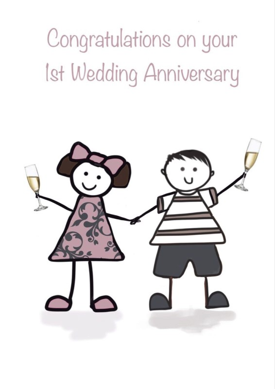 1st Wedding Anniversary (FDE28)