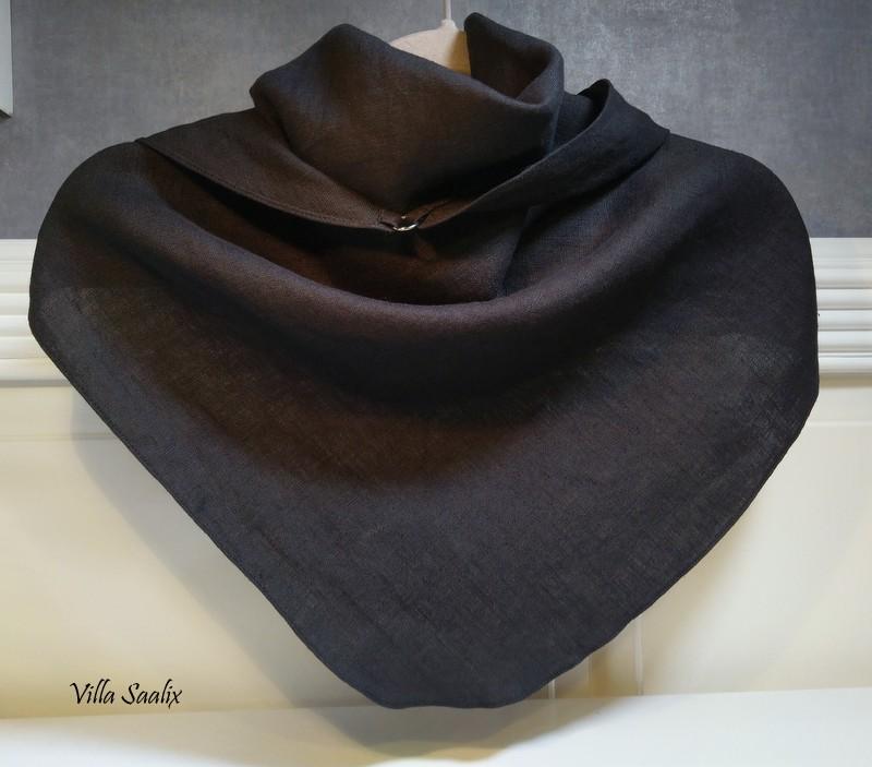 Pellavahuivi musta