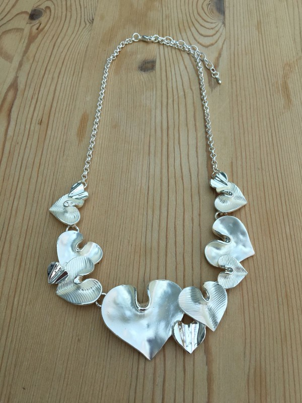 Lily Heart Necklace - Silver