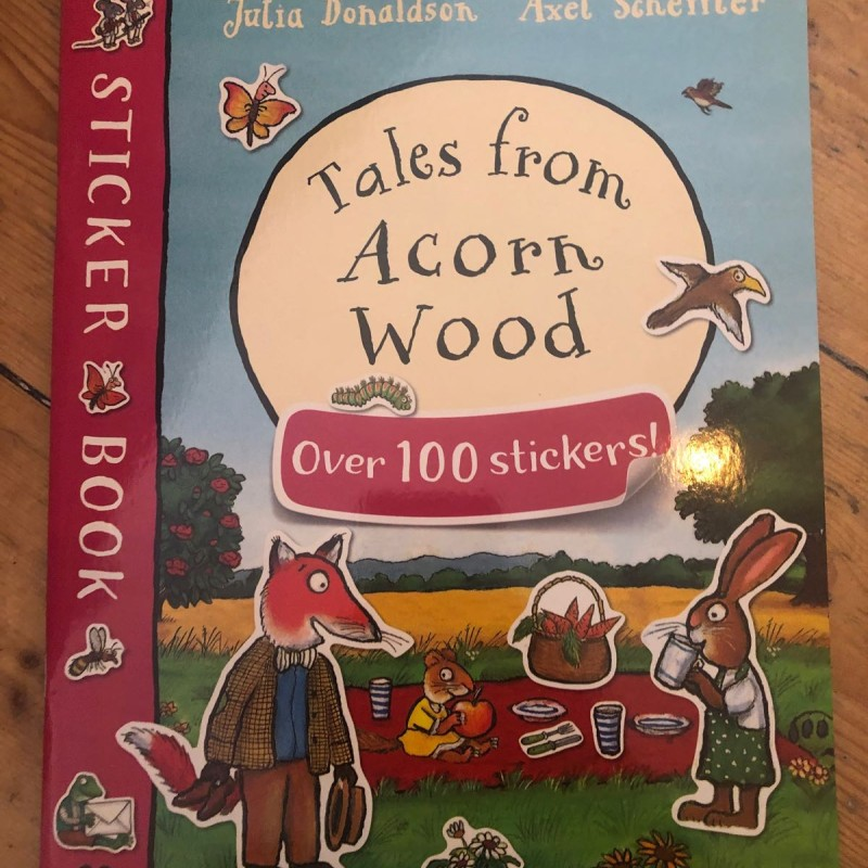 Sticker book tales from acorn wood