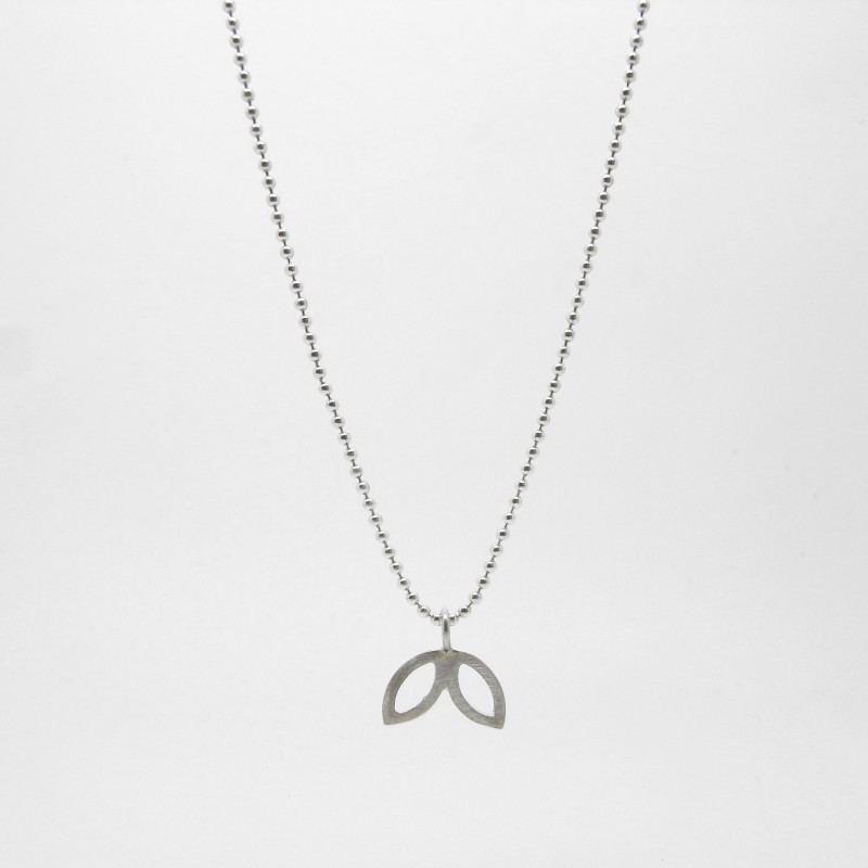 SALE - Silver Petal Necklace