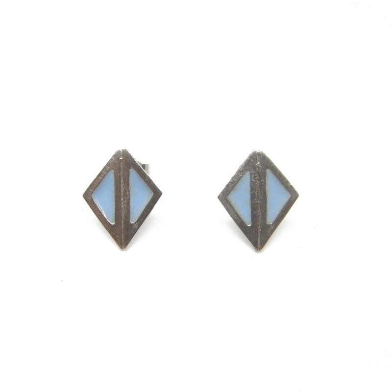 SALE - Sterling Silver Blue Resin Studs