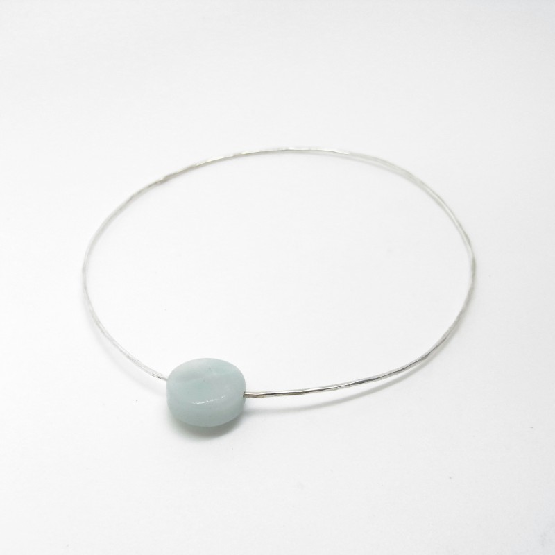 Bangle with Amazonite (large)