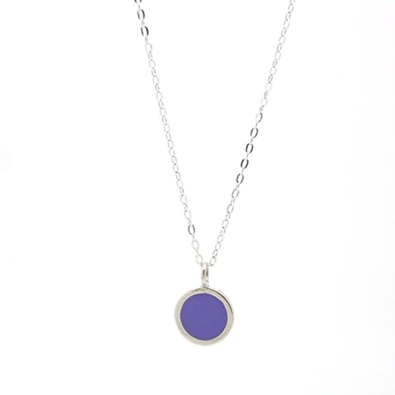 Purple / Iris Enamel Necklace