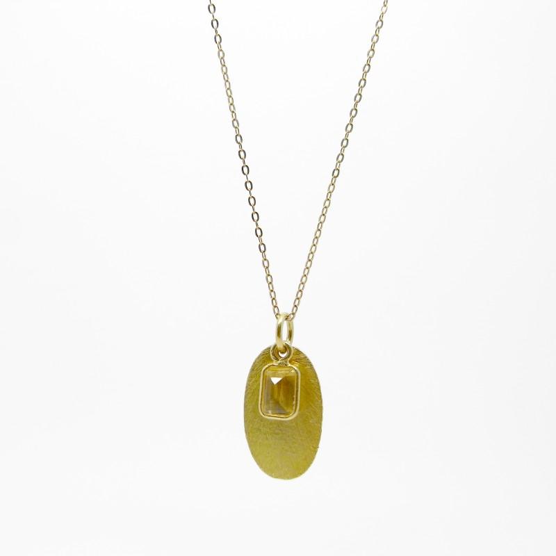 SALE - Citrine Pendant Necklace