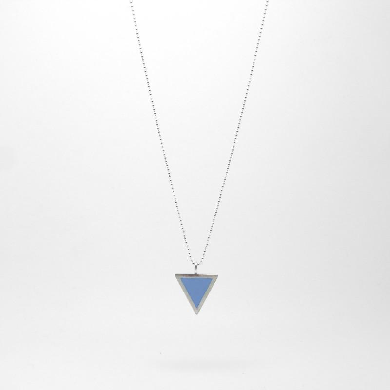 Triangle Necklace Soft Blue