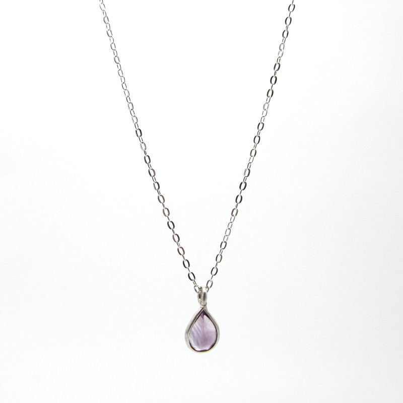 SALE - Amethyst Necklace Silver