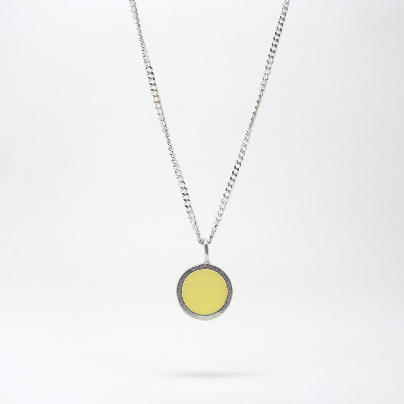 SALE - Small Coloured Dot Necklace Sand