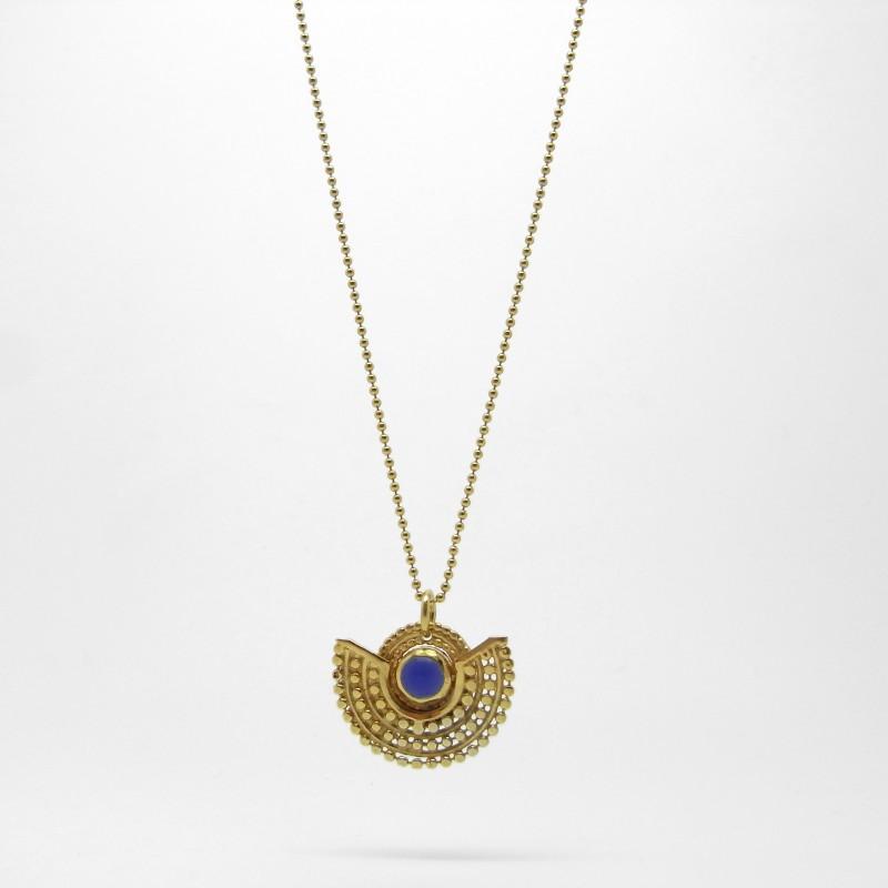 Deco Necklace - Blue Agate G