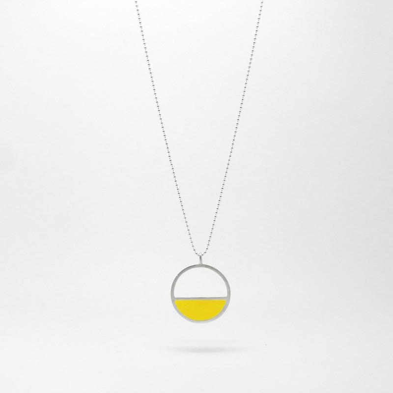 Semi Circle Necklace Yellow