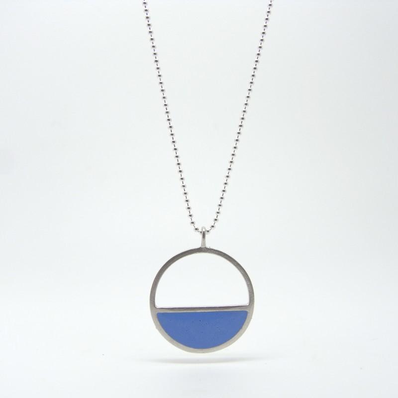 Blue Enamel Necklace