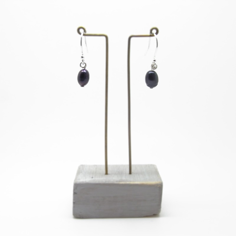 SALE - Blue Pearl Earrings