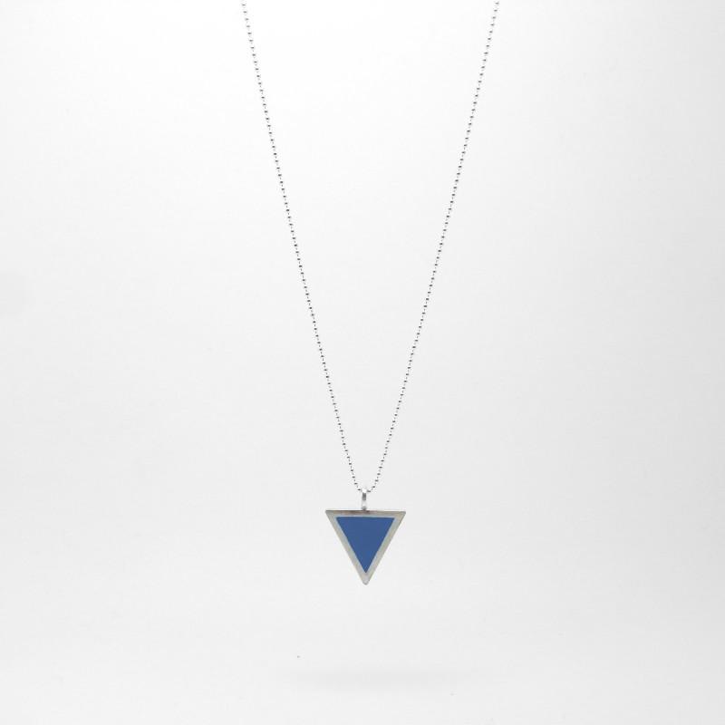 Triangle Necklace Medium Blue