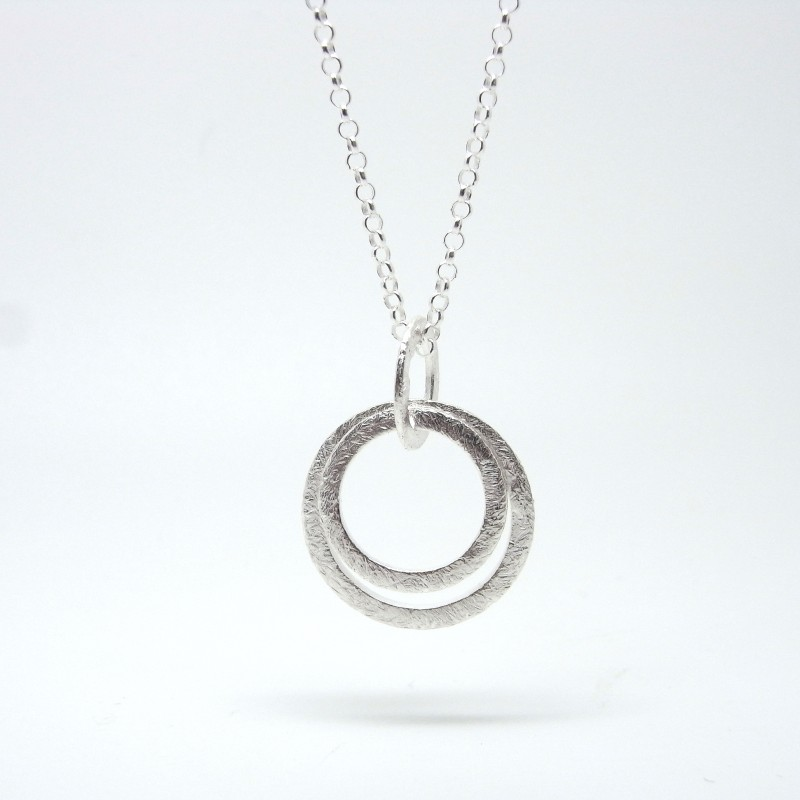 Concentric Circle Necklace (Silver) 2