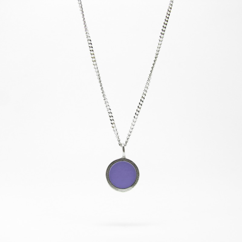 SALE - Small Coloured Dot Necklace Purple