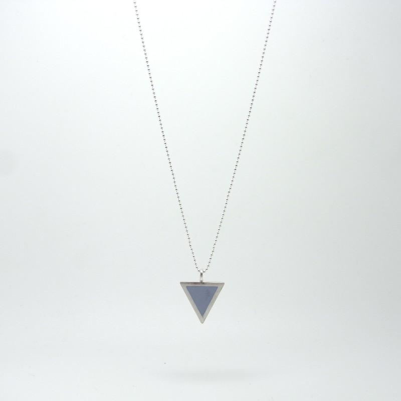 Triangle Necklace Slate Blue