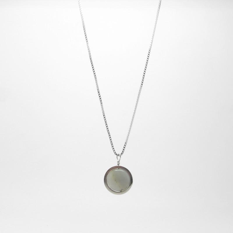 SALE - Amazonite Circle Necklace