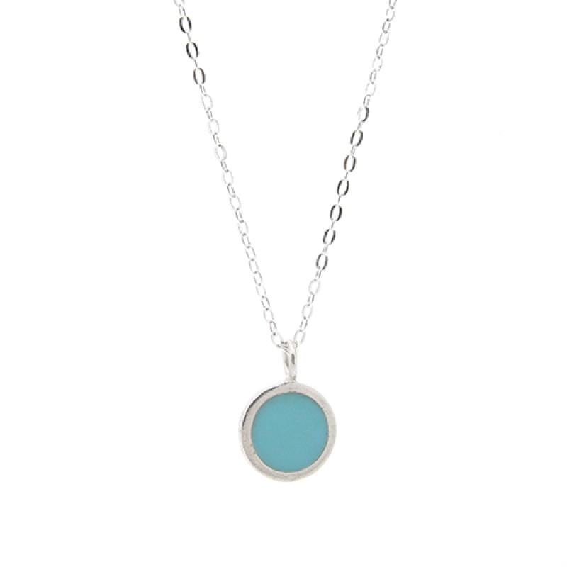 Turquoise / Blue Enamel Necklace