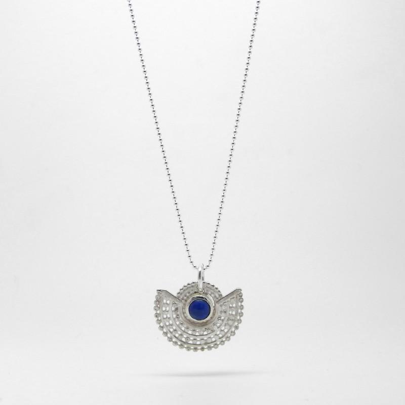 Deco Necklace - Blue Agate S