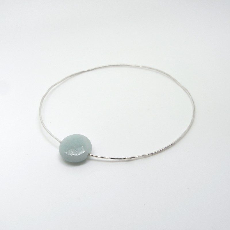 Bangle with Faceted Amazonite (medium)