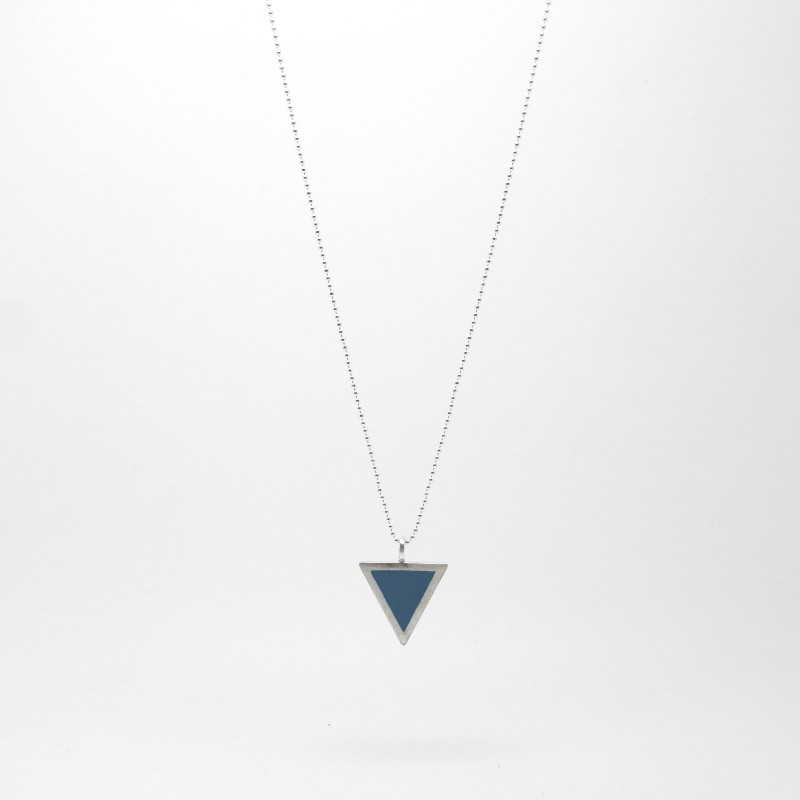 Triangle Necklace Ocean Blue