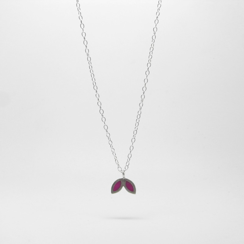 SALE - Small Petal Necklace Purple
