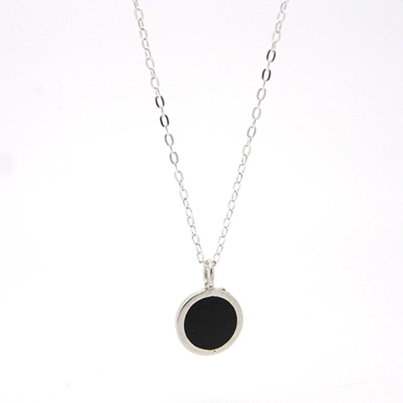 Black Enamel Necklace