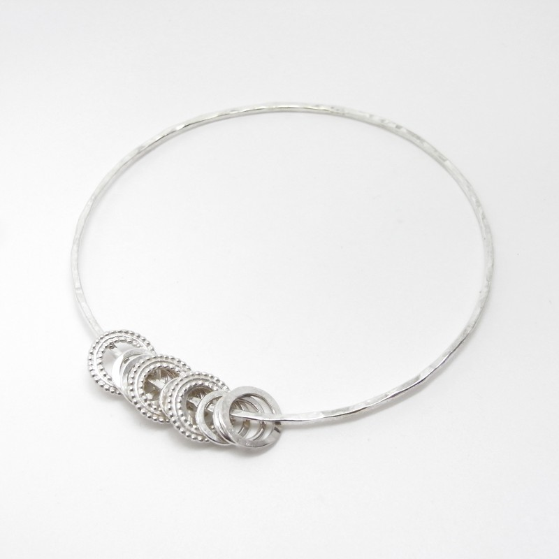Bangle with Ring Charms (large)