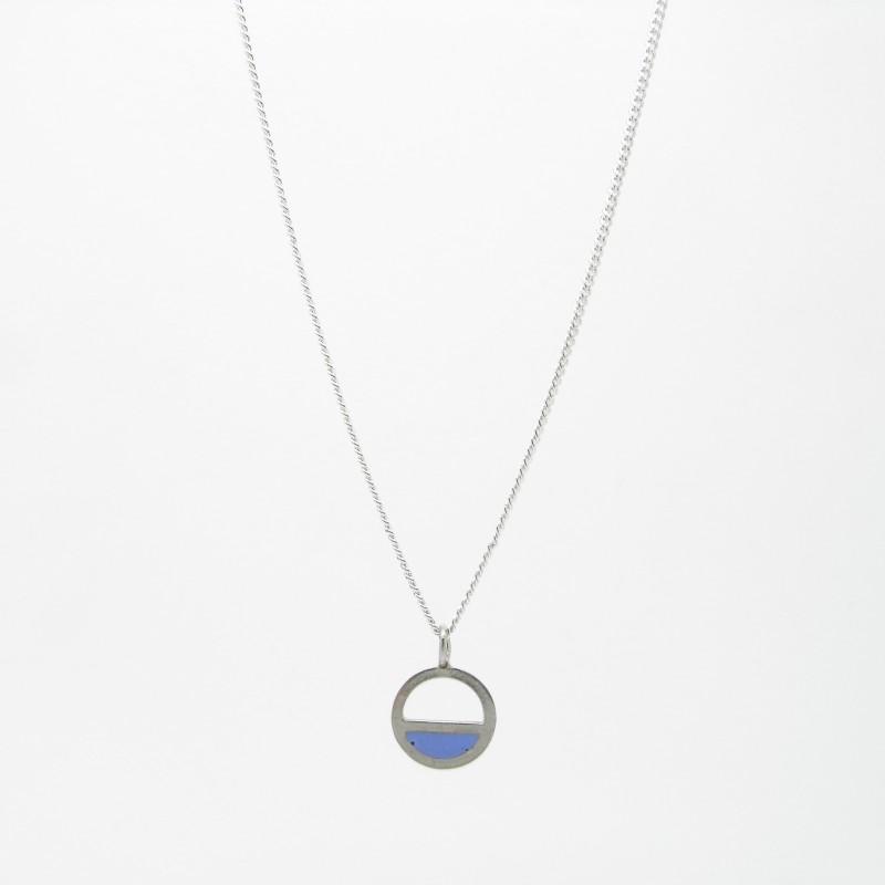 SALE - Small Semi Circle Necklace Blue