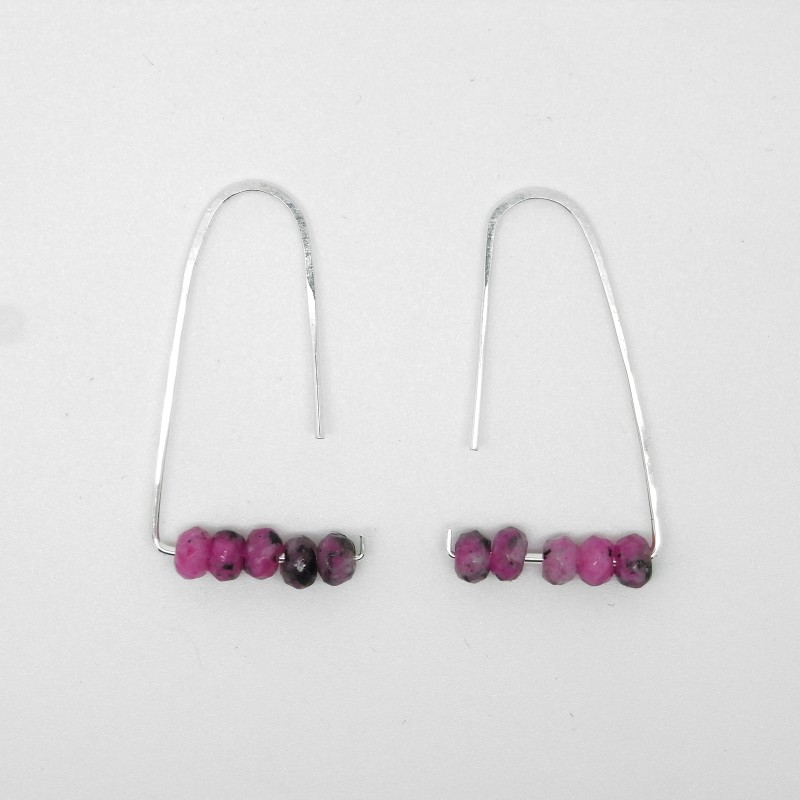 Pink Agate Earrings