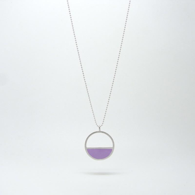 Semi Circle Necklace Iris