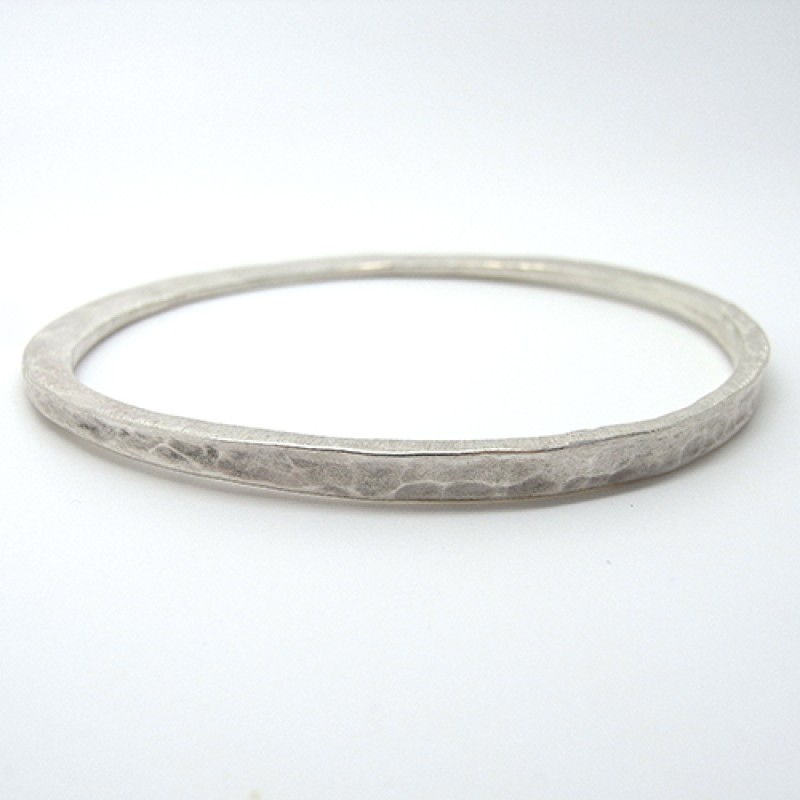 Hand Forged Bangle - Sterling Silver