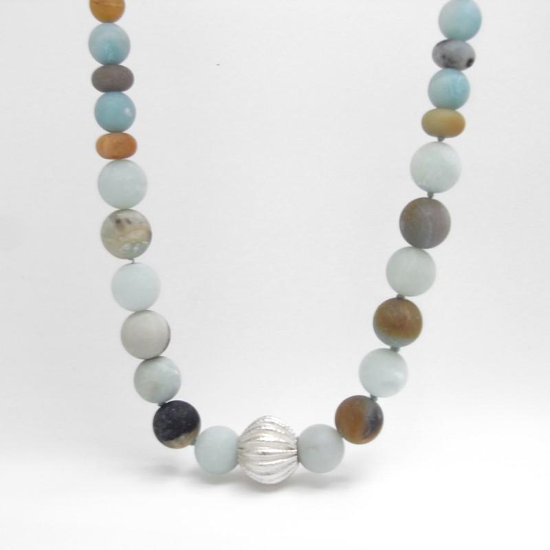 Large Amazonite Bead Necklace