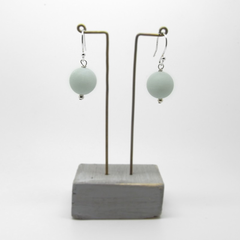 SALE - Turquoise and Hematite Drop Earrings