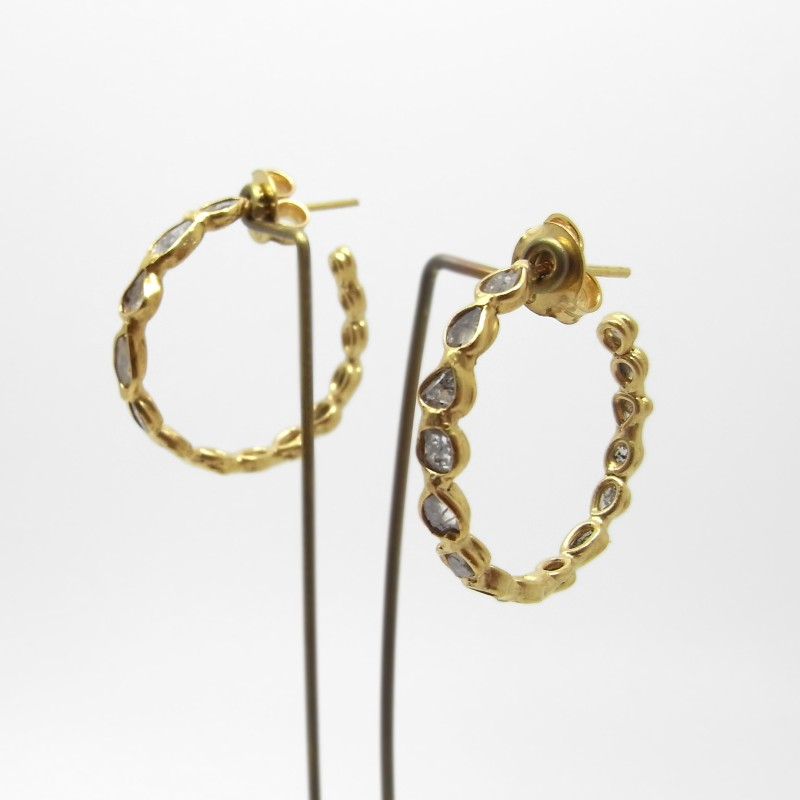 Diamond Earrings - Gold Plated