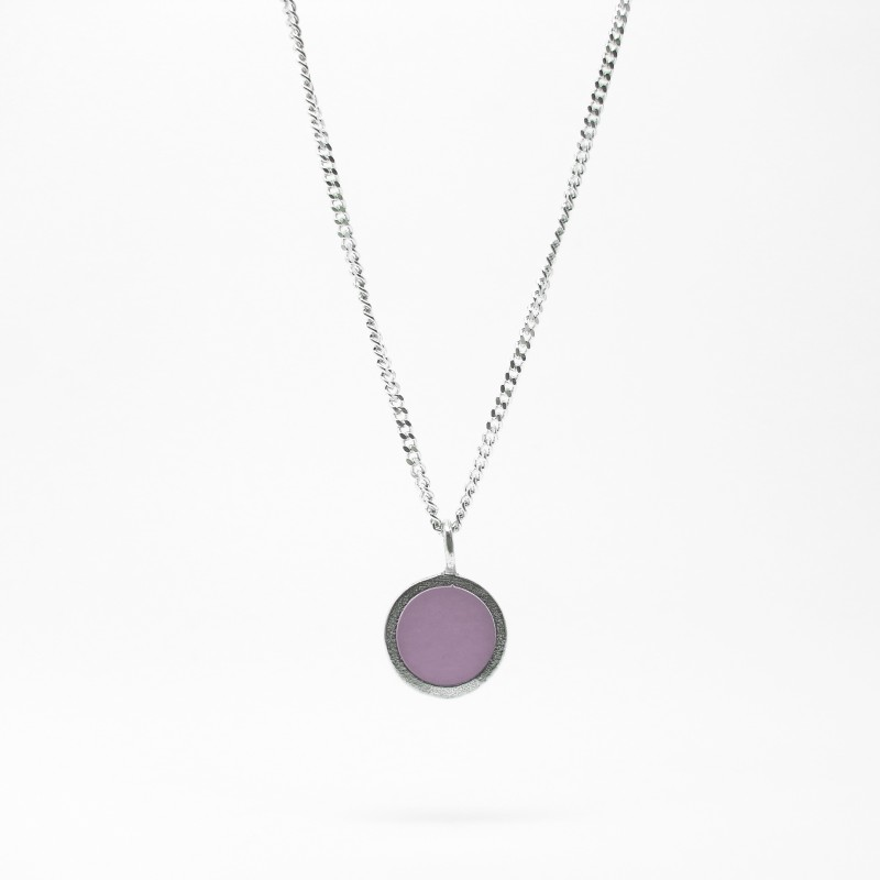 SALE - Small Coloured Dot Necklace Lilac