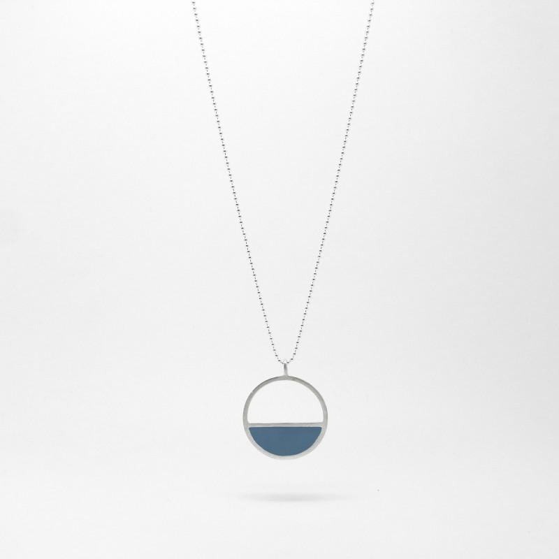 Semi Circle Necklace Ocean Blue