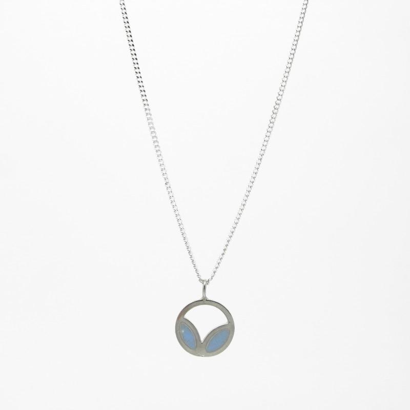 SALE - Petal Necklace Light Blue